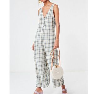 Urban Outfitters Plaid Jumpsuit